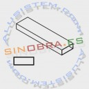 Tubo rectangular de 40 x 20 mm